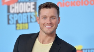 "Colton Underwood arrives at the Kids' Choice Sports Awards in Santa Monica, Calif., on July 11, 2019. Underwood, the former football tight end who found fame on ""The Bachelor"" has revealed that he is gay. (Photo by Richard Shotwell/Invision/AP, File)"