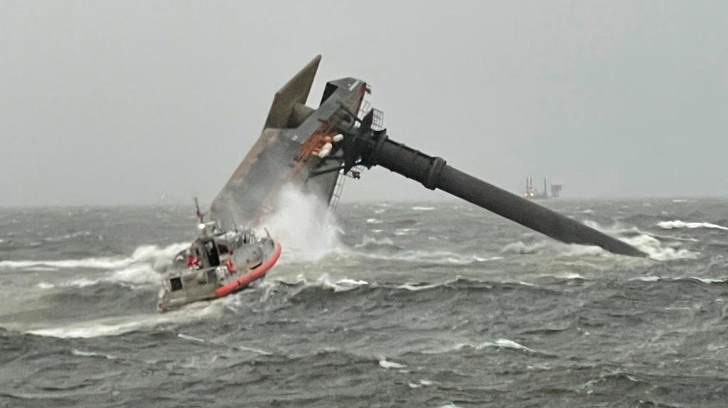 overturned ship
