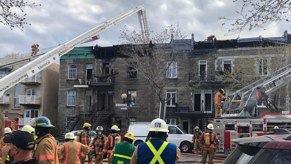 Fire underway