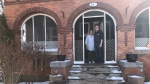Marleen and Lorne Green outside their home at 301 – 14th Street West Prince Albert. Lorne Green received a Municipal Heritage Award in 2013 from the City of Prince Albert for the home in the category of property preservation. (Lisa Risom/CTV News)