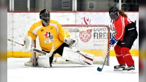 Canadian Blind Hockey provides opportunities to children, youth, and adults who are blind of partially sighted to play the game of hockey. (Photo courtesy: canadianblindhockey.com)