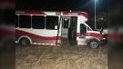 A woman faces charges after allegedly driving off with a city bus Tuesday night