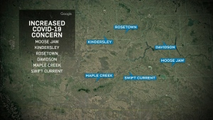 Outbreak in southwest Sask.