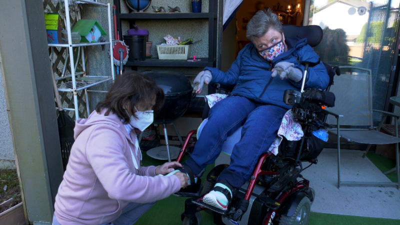 Surrey, B.C., resident Jenny Taylor, 55, says one of her caregivers (not pictured) recently abandoned her and left her in a vulnerable position for hours.