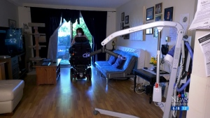 Woman says caregiver abandoned her