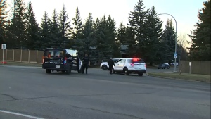 One person was taken to hospital in serious condition Wednesday after being struck by a vehicle in southwest Calgary