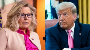 Wyoming Rep. Liz Cheney, the No. 3 House Republican, said Wednesday she would not support Donald Trump if he decided to launch another White House bid in 2024. (Getty via CNN)