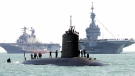 The French submarine Perle is seen in Portsmouth, UK, in 2004. (Alessandro Abbonizio/AFP/Getty Images via CNN)