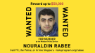 Windsor Police Service and the Bolo program are offering a new reward of $50,000 for information that leads to the arrest of Nouraldin Rabee. (source Bolo Program/Twitter)