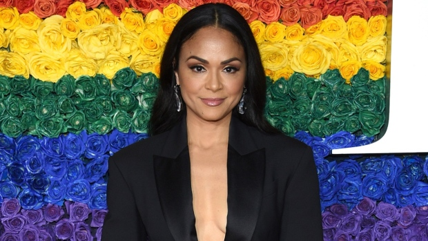 Karen Olivo arrives at the 73rd annual Tony Awards on June 9, 2019, in New York.  (Evan Agostini / Invision / AP)