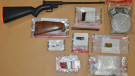 A firearm and ammunition were among the items seized by the Crime Gun Task force in searches on April 13-14, 2021. (Source: London Police Service)