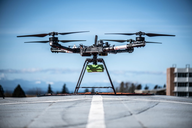 UBC and InDro Robotics test drones using 5G. (Submitted)