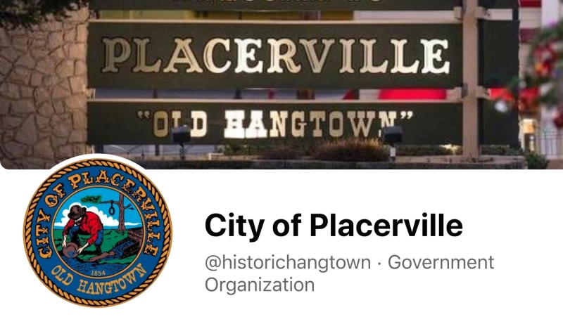 "This image from the City of Placerville's Facebook page shows the town's logo that includes a noose. The California Gold Rush town of Placerville will change its logo to remove a noose that stems from its mid-19th century reputation as ""Hangtown"" following lynchings of criminal suspects by mobs of miners. The City Council voted Tuesday, April 13, 2021, night to remove the noose. (City of Placerville/Facebook via AP)"