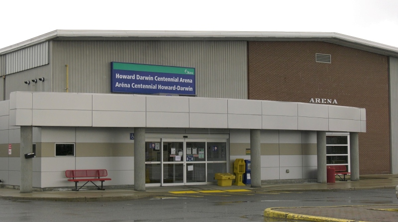 A COVID-19 clinic is located at the Howard Darwin Centennial Arena in Ottawa. (Jeremie Charron/CTV News Ottawa)