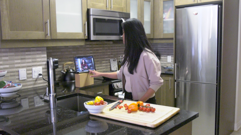 Virtual cooking classes are growing in popularity during the COVID-19 pandemic. (Jackie Perez/CTV News Ottawa)
