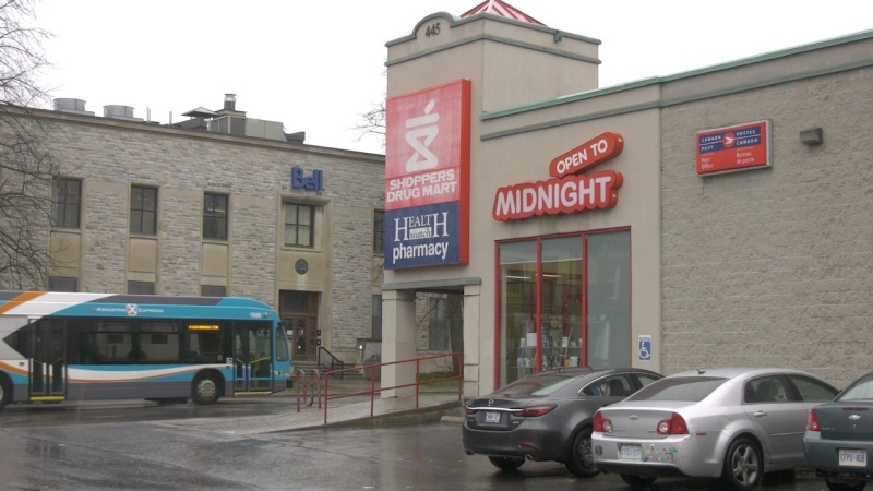 The Shoppers Drug Mart administers COVID-19 vaccines in Kingston. (Kimberley Johnson/CTV News Ottawa)