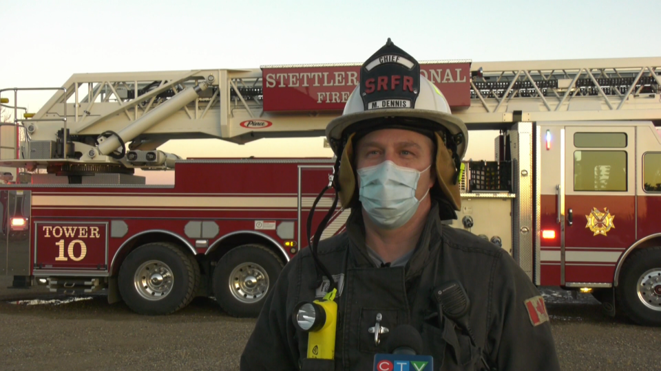 Stettler Regional Fire Rescue chief Mark Dennis (CTV News/Nav Sangha).