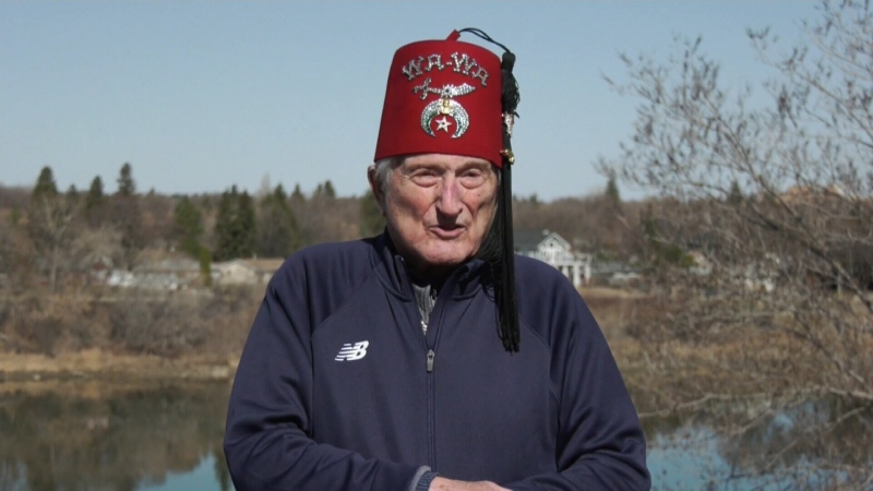 Man, 94, makes trek for children's hospital