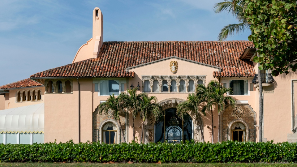 In this Monday, Jan. 18, 2021, file photo, is Mar-a-Lago in Palm Beach, Fla. Former President Donald Trump has been living at his Mar-a-Lago club since leaving office last week -- a possible violation of a 1993 agreement he made with the Town of Palm Beach that limits stays to seven consecutive days. (Greg Lovett/The Palm Beach Post via AP, File)