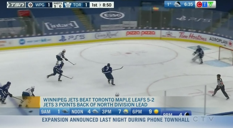 Jets dominate Maple Leafs in Toronto