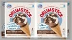 Drumstick Vanilla Chocolate Swirl Non-Dairy Frozen Dessert Cones and Drumstick Caramel Non-Dairy Frozen Dessert Cones 4 x 120 millilitre (CNW Group/Nestle Canada Inc.)