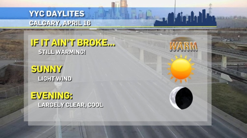 Calgary weather daylites April 16, 2021