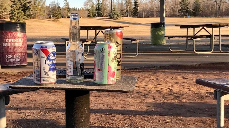 alcohol, cans, parks Edmonton