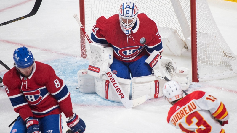 Montreal Canadiens goaltender Jake Allen will be back in net for the Habs as Ben Chiarot returns to the lineup against the Calgary Flames.THE CANADIAN PRESS/Graham Hughes