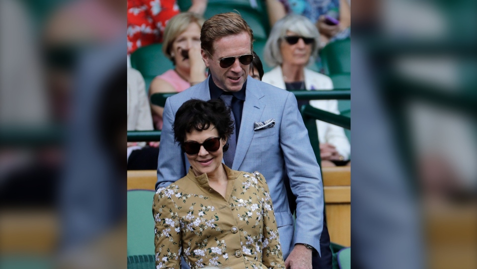 Damien Lewis and his wife Helen McCrory