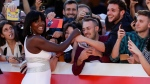 Actress Viola Davis signs autographs as she arrives at the Rome Film Fest, on Oct. 26, 2019. (Andrew Medichini / AP)