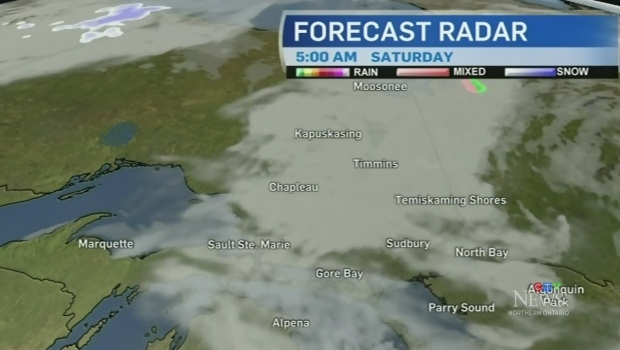 Some flurries and rain showers across the north