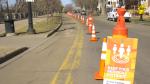 Shared-use path along the Victoria Promenade. (CTV News Edmonton)