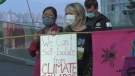 Activists marching from Vancouver to Victoria