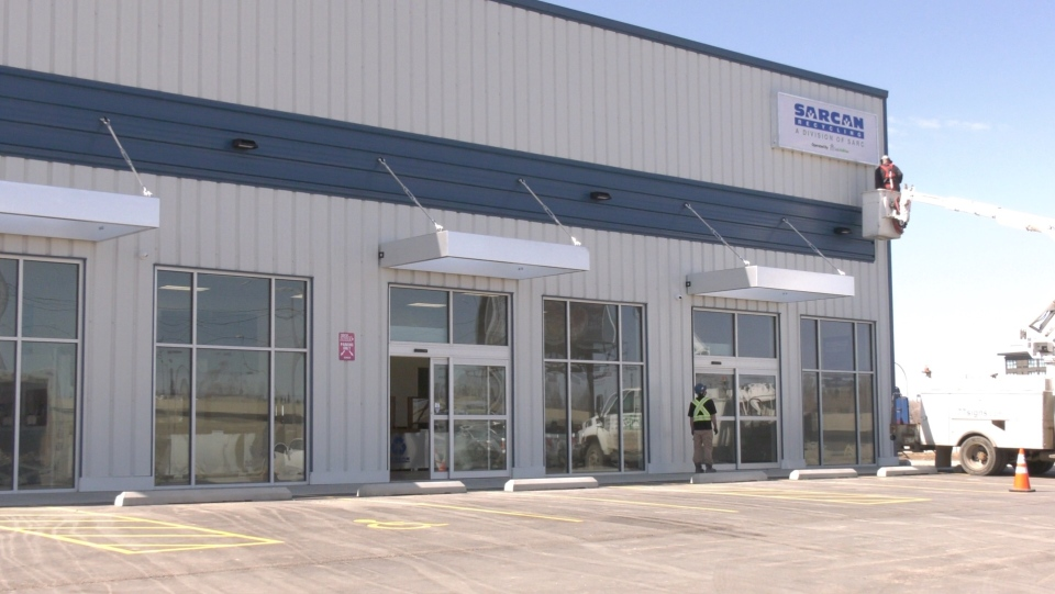 SARCAN Recycling's new location at 2900 Jasper Avenue in Saskatoon. (Miriam Valdes-Carletti/CTV Saskatoon)