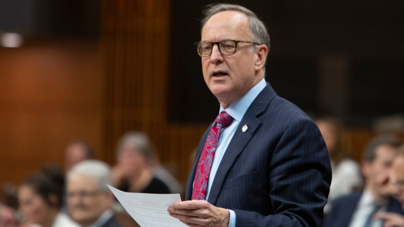 Parliamentary Secretary to the Minister of Foreign Affairs Rob Oliphant rises during Question Period in the House of Commons on Parliament Hill, in Ottawa on Friday, June 7, 2019. THE CANADIAN PRESS/Fred Chartrand
