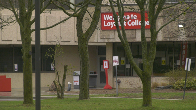 The COVID-19 Immunization clinic in Belleville, located at Loyalist College. (Kimberley Johnson/CTV News Ottawa)