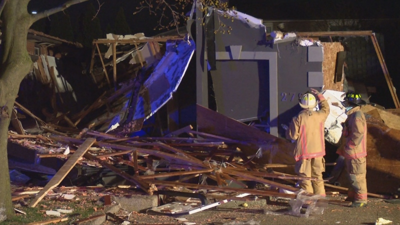 No injuries have been reported following a home explosion on Hamilton's west mountain Friday night.