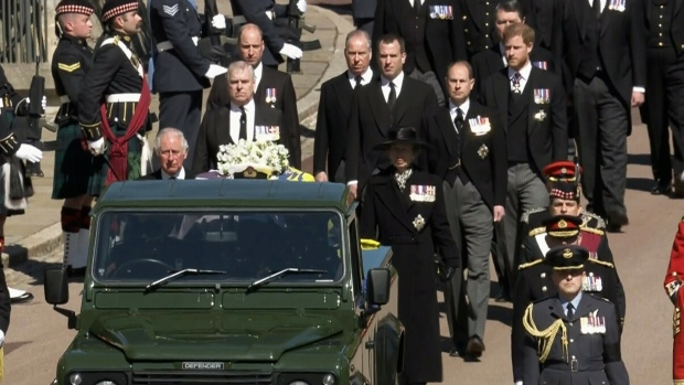 Prince Philip funeral procession