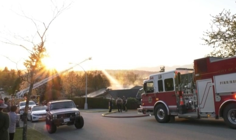 Six people were sent to hospital as a result of a house fire in Surrey on Friday, April 16, 2021.