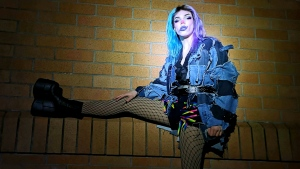 Abbotsford resident Will Davis, dressed as drag queen Jester Minute, will compete in Dragstravaganza on Sunday, April 18, 2021 (Supplied photo).