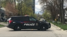 Brantford police on scene of a shooting incident. (Johnny Mazza/CTV Kitchener) (Apr. 17, 2021)