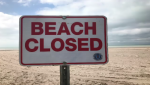Port Stanley Beach Closed sign