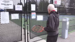 Albert Visser, 77-years-old, shocked to see Pinafore Park Tennis Courts Closed Saturday, April 2021 (Brent Lale/CTV News)
