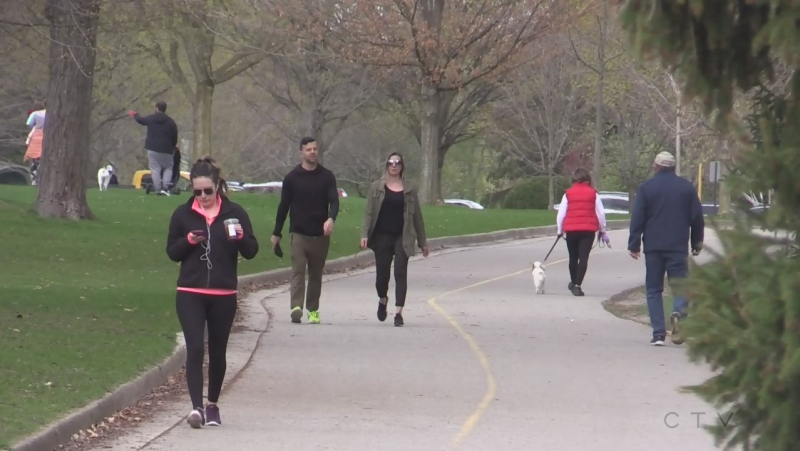 Outdoor restrictions on everything other than playgrounds are in place as of Saturday, April 17, 2021 (Brent Lale / CTV News)