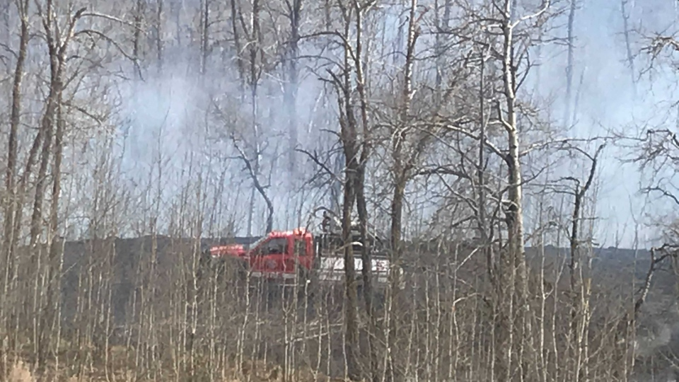 Edmonton grass fire