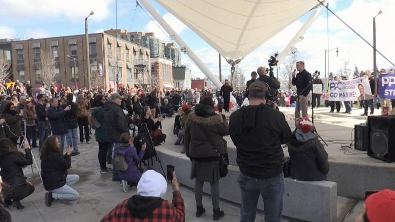 Hundreds fight for 'civil liberties'