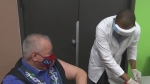 MMF President David Chartrand gets vaccine shot