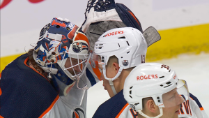 The Edmonton Oilers beat the Winnipeg Jets Saturday April 17, 2021 (Courtesy: Sportsnet)