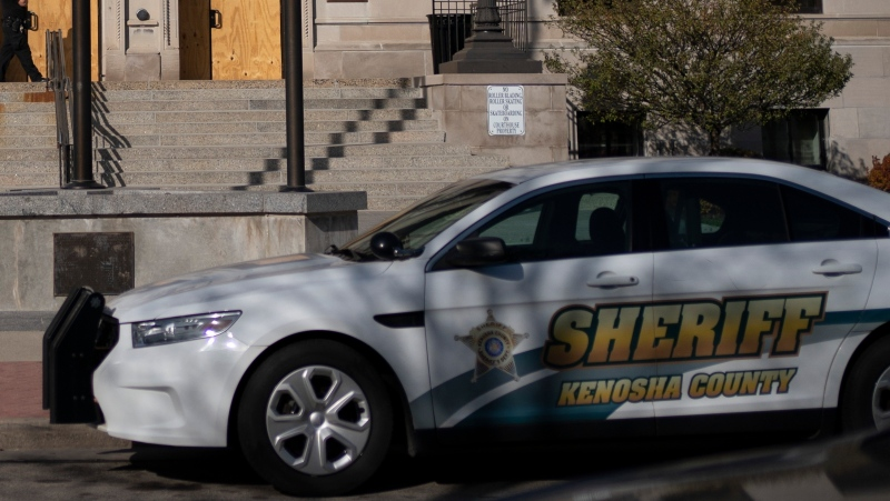 A Kenosha Country Sheriff's Department cruiser, seen in this Nov. 2, 2020 file photo. (AP Photo/Wong Maye-E)