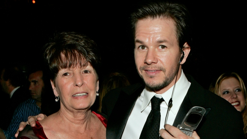 In this Sunday, Jan. 16, 2005, file photo, Mark Wahlberg and his mother Alma pose at the HBO party after the 62nd Annual Golden Globe Awards, in Beverly Hills, Calif. (AP Photo/Lisa Rose, File)